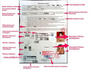 Sample of Attested Power Of Attorney In Consulate Of India - New York