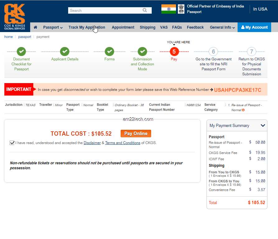 Renew Indian passport in USA after 10 years Cox Kings By post ...